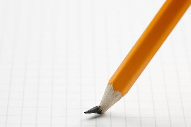 Lápis com a ponta quebrada