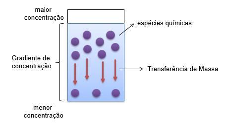 Ilustração representativa da transferência de massa