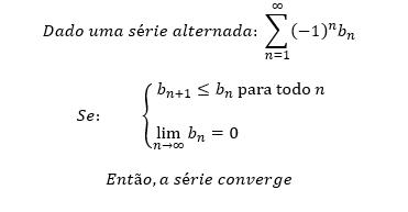 Definição formal do teste da série alternada