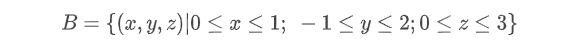 Volume de integração do exemplo