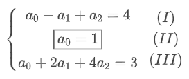sistema linear formado