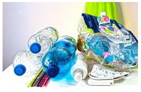 Imagem com exemplo de materiais plásticos